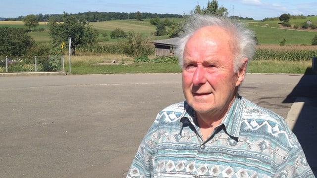 Der heute 78-jährige Gottfried Meisterhans, der vor 50 Jahren seine Eltern beim Flugzeugabsturz von Dürrenäsch verlor.