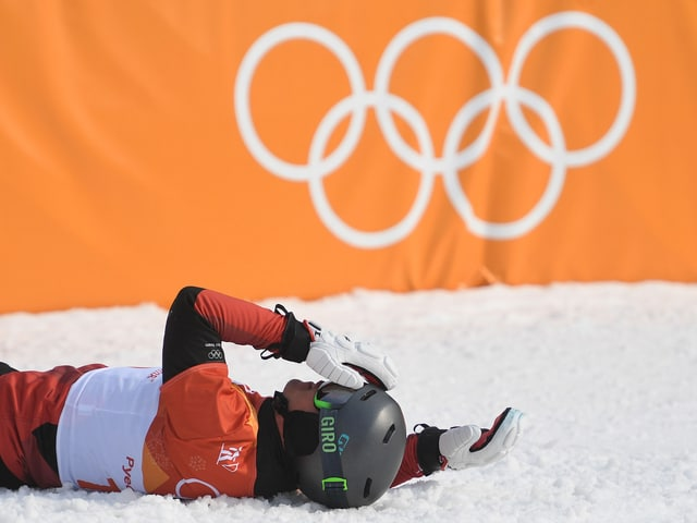 Nevin Galmarini sank nach dem Final ungläubig zu Boden.