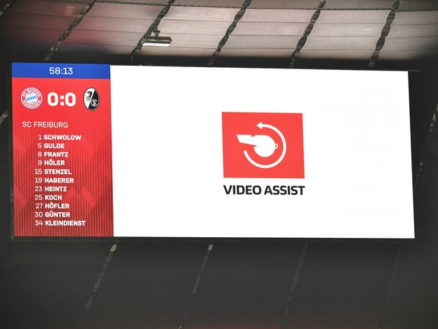 Videobeweis auf der Anzeigetafel