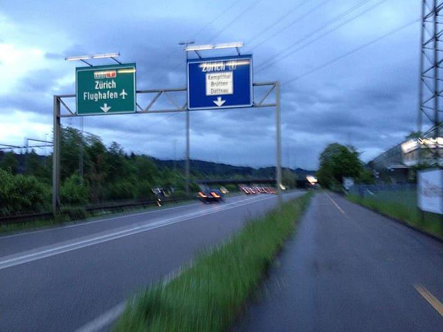 Autobahnzubringer Winterthur.