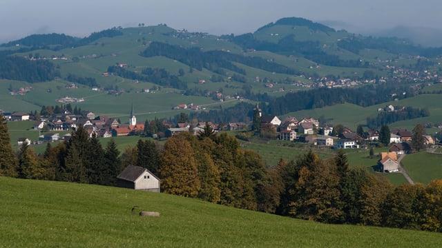 Der Blick von Hemberg Richtung Neckertal.