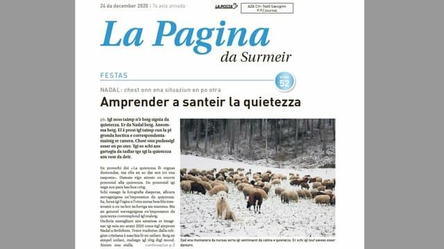 La segund davosa ediziun da la Pagina da Surmeir da l'onn 2020 è cumparida ils 24 da december.