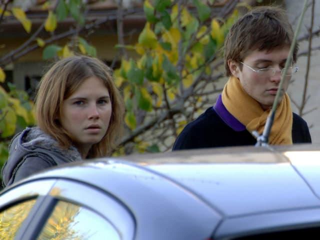 Amanda Knox mit ihrem damaligen Freund Raffaele Sollecito.