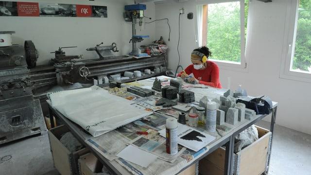 L'atelier da Regina Giger-Caminada.