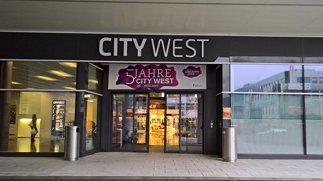 L'entrada dal City West a Cuira.