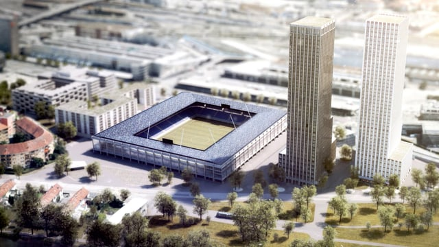 Visualisierung Zürcher Fussballstadion