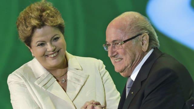 Dilma Rousseff und Sepp Blatter