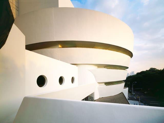Spiralenförmige Fassade des Guggenheim-Museums.