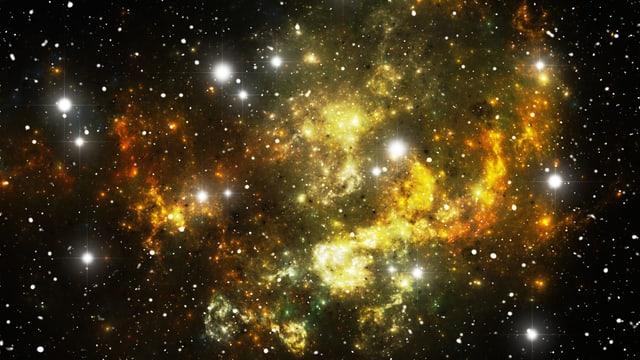 Sterne im Weltall.