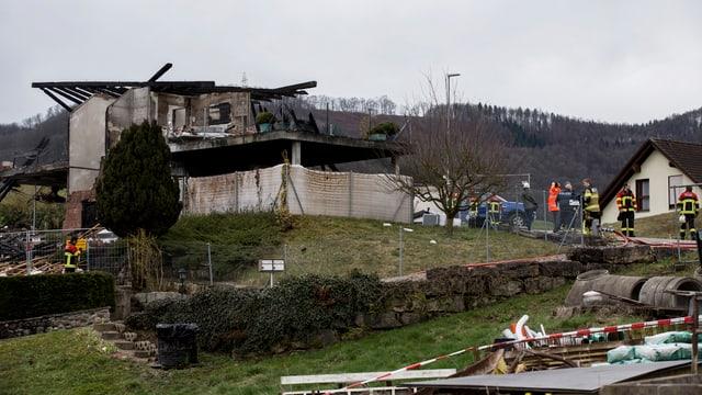 Das zerstörte Haus in Gansingen