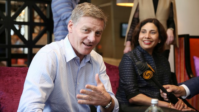 Neuseelands Ministerpräsident Bill English neben seiner Frau