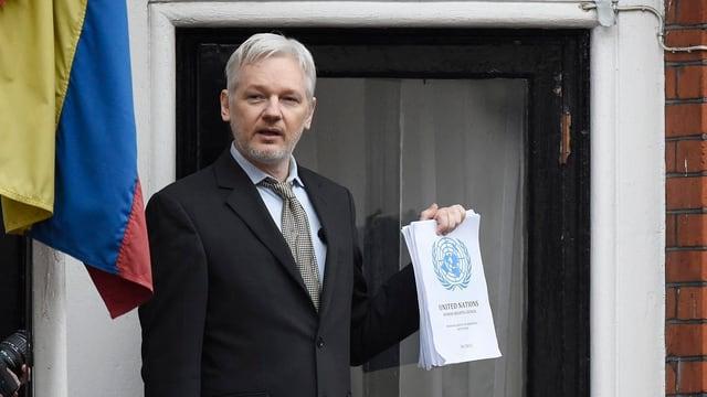 Assange in der ecuadorianischen Botschaft.