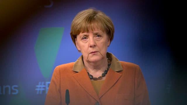 Angela Merkel vor den Medien in Brüssel