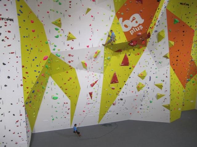 Das Herzstück der neuen Kletterhalle: Bis zu 17 Meter hoch sind die Wände an der höchsten Stelle.