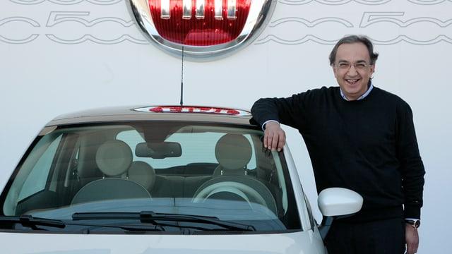 Sergio Marchionne mit Fiat Cinquecento