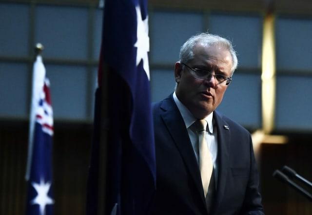 Zu sehen ist der australische Premier Scott Morrison.