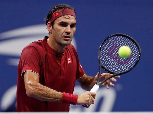 Roger Federer in seinem Achtelfinal gegen Millman.