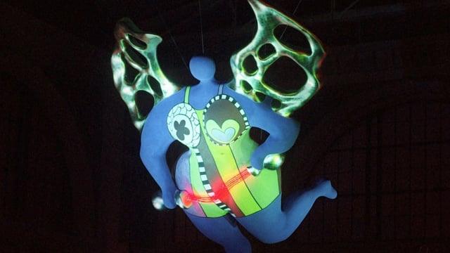 Der Engel von Niki de Saint Phalle im Zürcher Hauptbahnhof