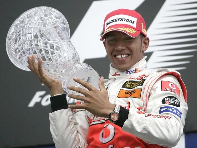 Beim GP von Kanada in Montreal feiert Hamilton in seinem sechsten Rennen den ersten Sieg
