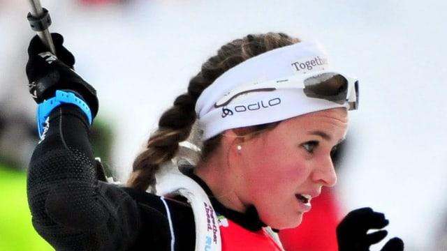 Irene Cadurisch, biatleta rumantscha.