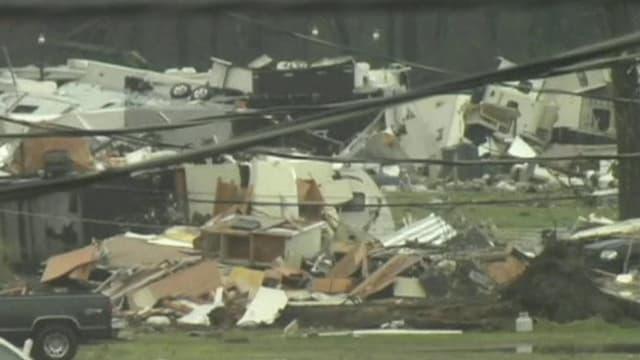 demolierte Wohnwagen