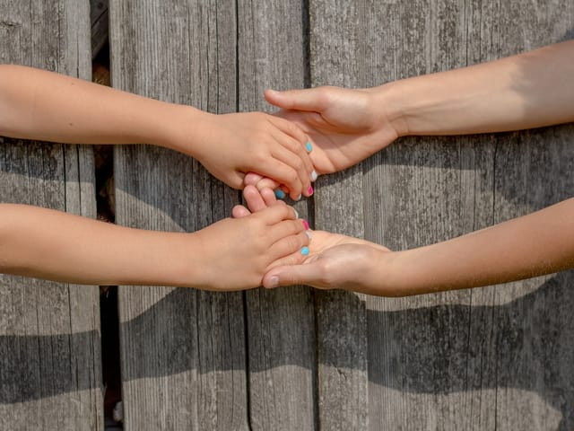 Kinder Freundschaft Hände
