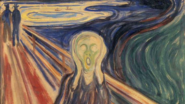 Ausschnitt aus Edvard Munchs Gemälde «Der Schrei»