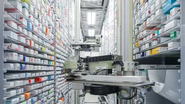Ein automatisiertes Medikamentenlager