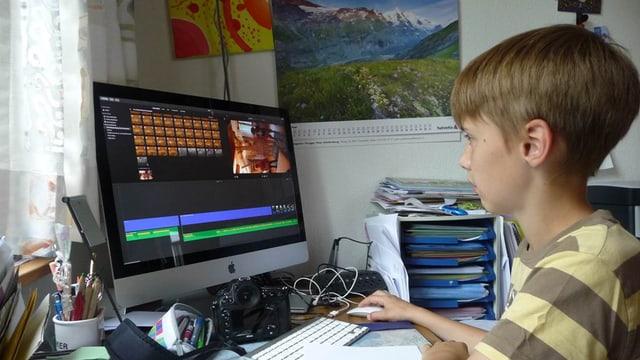 Florin am Computer