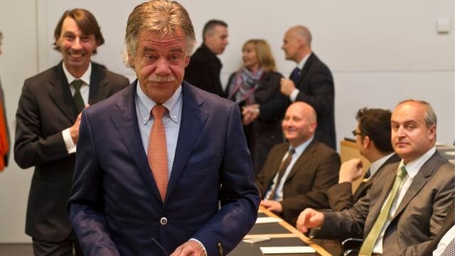 Der Tessiner Staatsrat Michele Barra (Lega) am Dienstag, 30. April 2013, kurz nach seinem offiziellen Amtsantritt in Bellinzona.