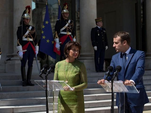 Durant l'onn presidial hai dat divers inscunters interanziunals sco cun il nov president da la frantscha Emmanuel Macron.
