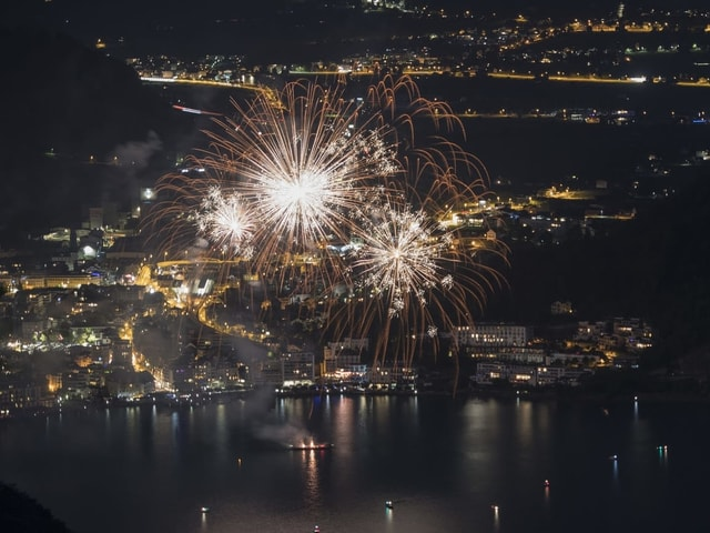 Feuerwerk über dem See
