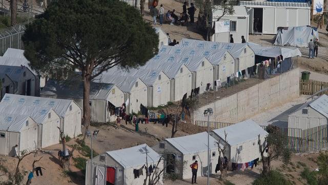 Flüchtlingscamp auf Lesbos.