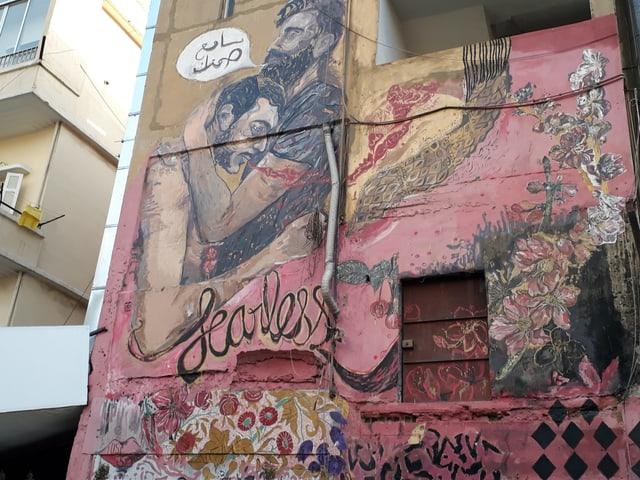 Wandmalerei in Beirut