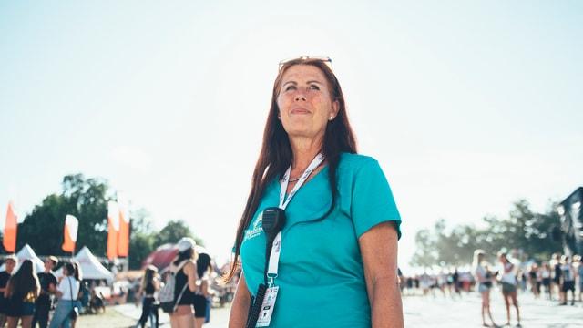 Brigitte Schöllmann ist seit 2 Jahren die Eingangs-Chefin.