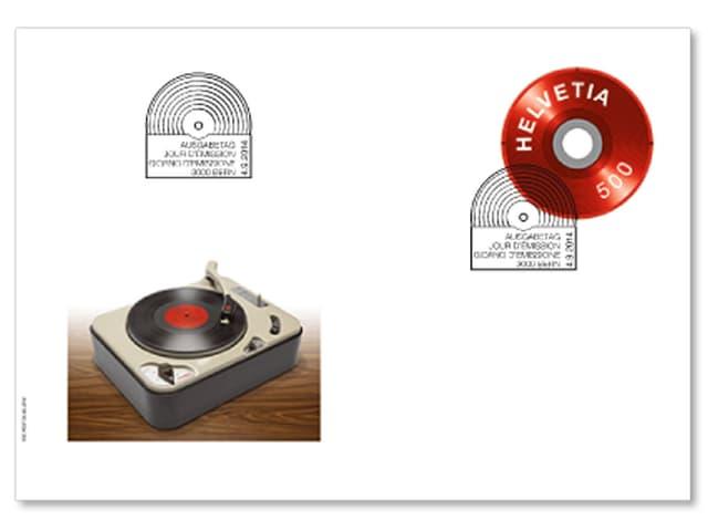 Ersttagsbrief zur Vinylplatte.