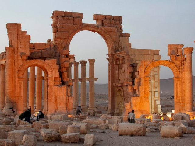 Ruinen von Palmyra.
