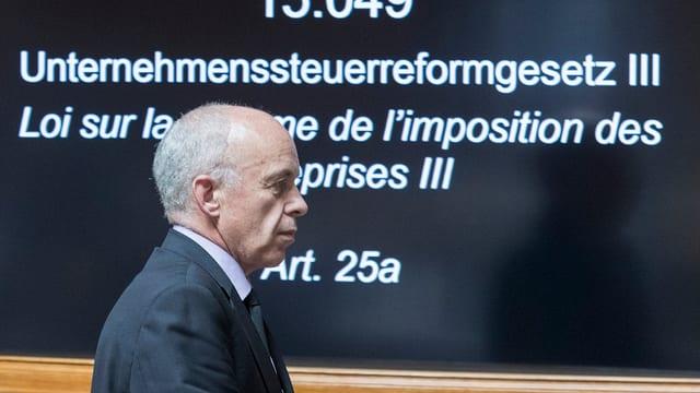 Ueli Maurer en il parlament.