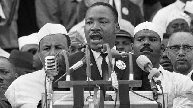 Am 28. August 1963 hält Martin Luther King vor dem Lincoln Memorial in Washington seine berühmte «I Have a Dream»-Rede.