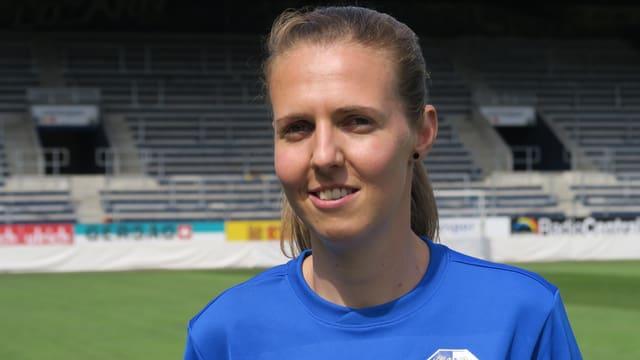 Porträt der Luzerner Fussballerin Marie-Andrea Egli.