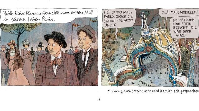 Comic: Picasso kommt in Paris an und keiner kennt ihn