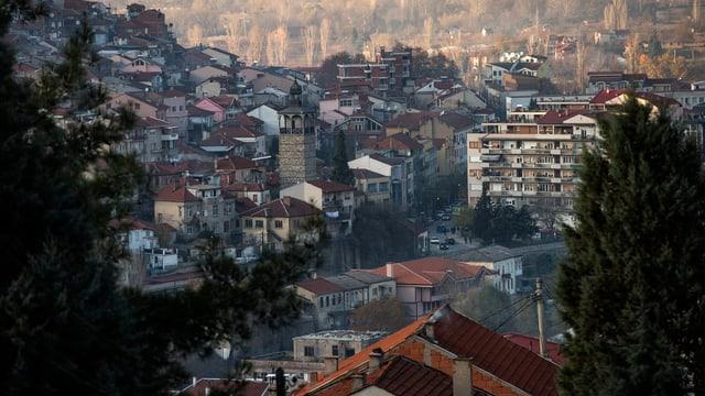 Die Stadt Veles in Mazedonien