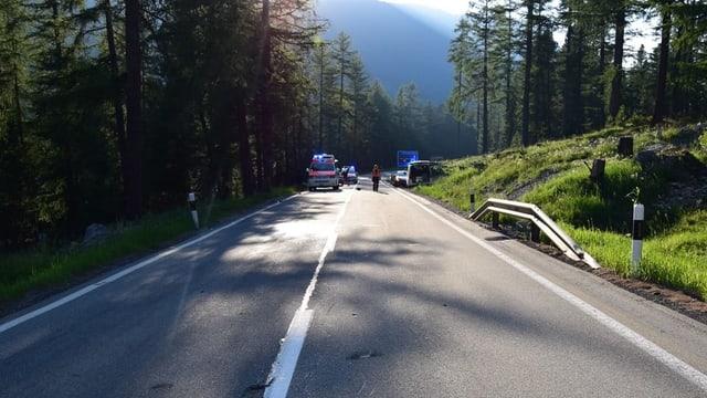 La via serrada, e la storta da l'accident.