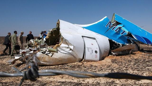 Trümmer der russischen Passagiermaschine