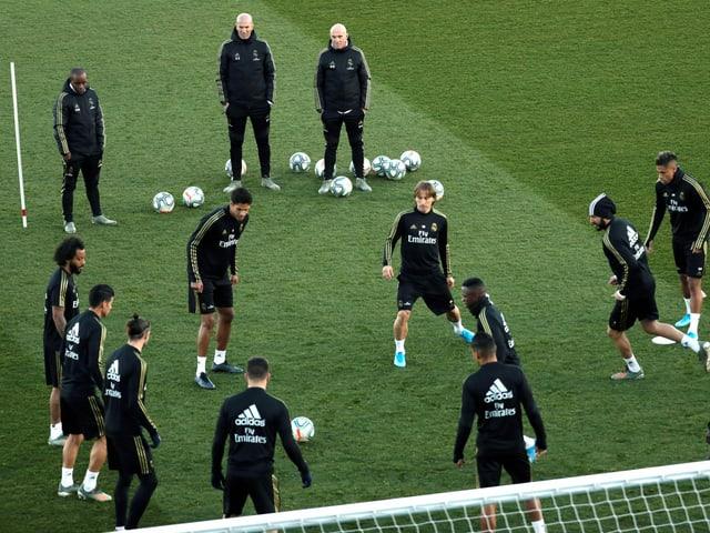 Training der Madrilenen im Estadio di Stéfano.