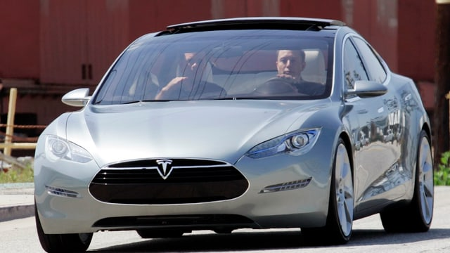 Tesla 2009 in den USA.