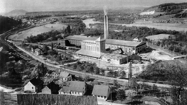 Grundstein des heutigen Weltkonzerns Holcim: Die Portlandcement-Fabrik im aargauischen Holderbank.