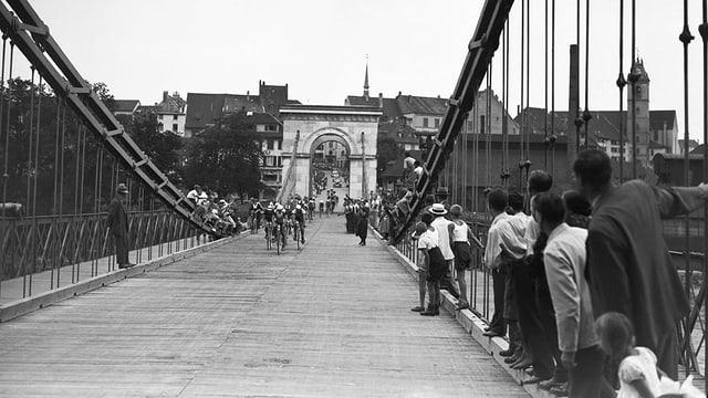 Historische Aufnahme der Kettenbrücke