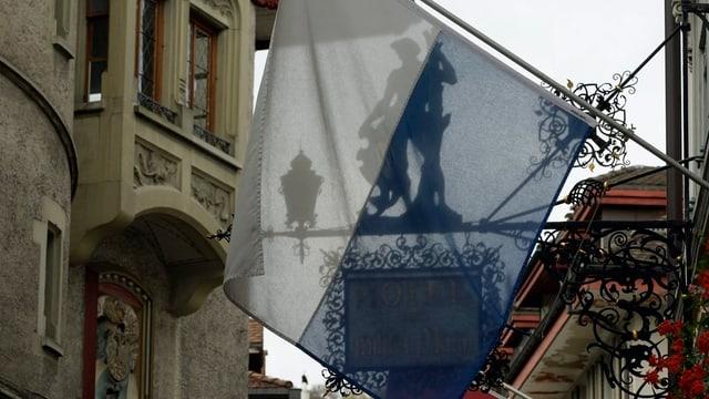 Luzerner Fahne in der Stadt Luzern