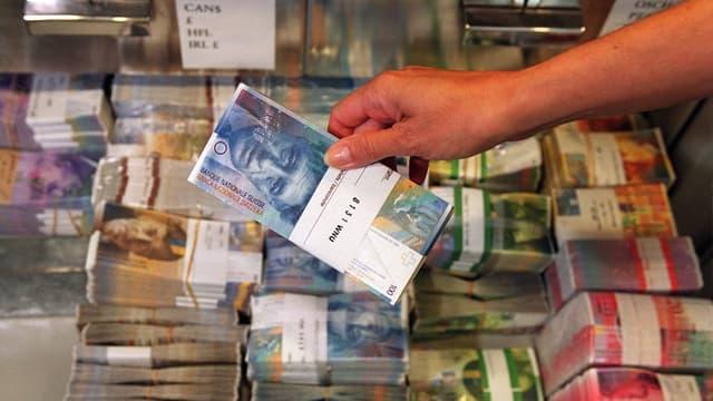 Geld in Banktresor